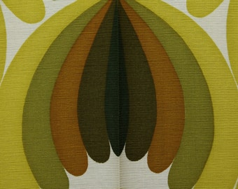 Green / White Fabric design pattern 60s