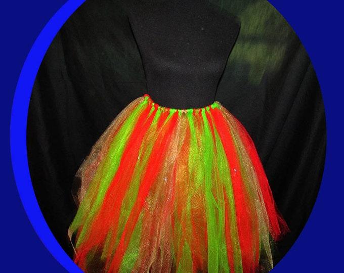 Jingle Bell Festive Holiday Tutu Skirt