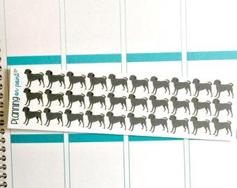 Black Lab Dog Planner Stickers!