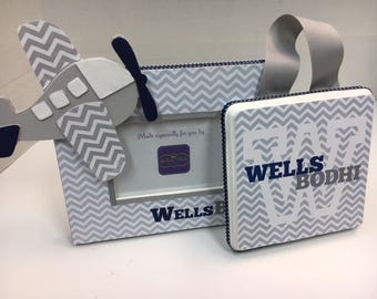 Frame and Room Name Plaque for Boys or Girls Room