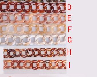60cm Long / Oval Acrylic Chain / Plastic Chain / Clear Chain / Hand Bag Chain