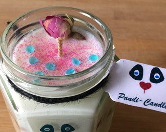 Candle - Fallen Rose (Wild Rose) - 100% Soy Wax - Jar - 6oz by Pandi-Candle