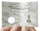 UNDER THIS MOON / Bracelet - Personalised lunar phase charm of your special night in silver and silk, astronomy, black, red