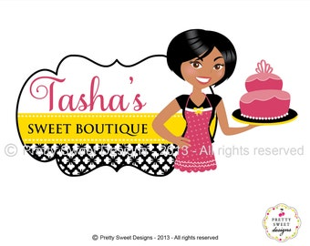 Personalized Branding For Business With Illustration, Sweet Design Logo, Custom Logo Design