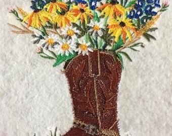 Cowboy Boot Bouquet