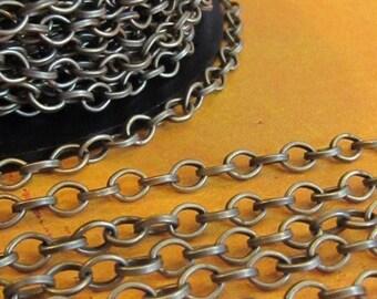 Victor Hugo  - 5 Foot - Steampunk - Rustic - Antique Bronze Cross Chain