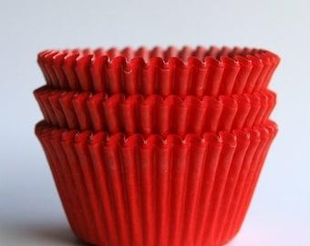 SALE: Red Cupcake Liners (50) Christmas Cupcake Liners
