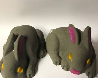 Chocolate Bunny Bath Bomb / Shea Butter Bath Bomb / Easter