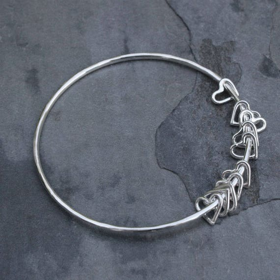 bangles and dainty i co bracelet silver bangle peretti elsa tiffany open sterling heart