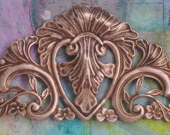 Tiara Brass Stamping, Rose Gold Ox, Brass Stampings Made in the USA