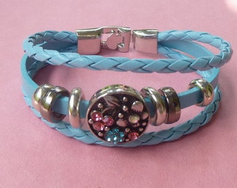 Upgraded Boho Multilayered Bracelet with 6 Decorative Round Charms ~ For Snap-It Charms