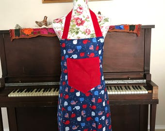Red, White and Whale Apron