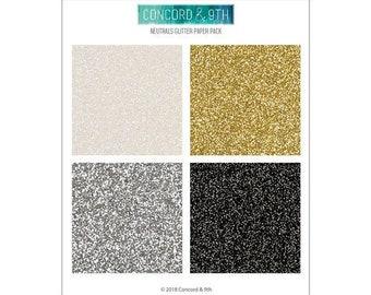 Concord and 9th - 6 x 6 Paper Pad - Neutral Glitter
