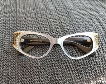 Vintage Cat Eyeglasses Frames Modernist deco France old new store stock