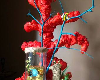 Under the Sea Coral Centerpiece