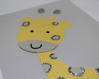 Giraffe  Baby Shower Invitation w/ Animal pictures