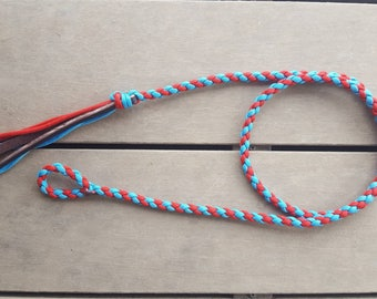 Turquoise and Red over under whip