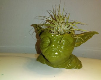 Yoda  Planter 3D Printed Succulent planter Large or Small