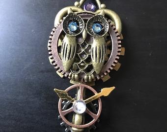 Steampunk owl skeleton key
