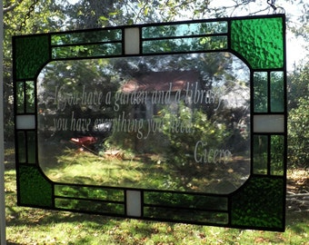 Garden and Library Quote Panel