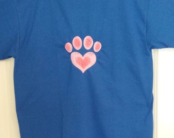 Pawprint Embroidered T-Shirt Size 2XL HUGE CLEARANCE SALE