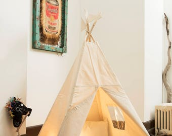 Canevas teepee poles not include