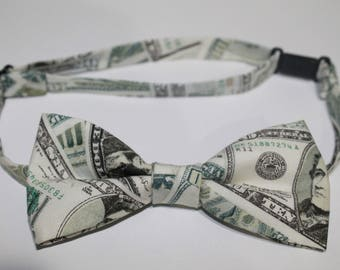 Money Bow Tie, Cash Bow Tie, Dollar Bow Tie, Currency bow tie, boy bow tie, baby bow tie, kids bow tie, men's bow tie, wedding bow tie