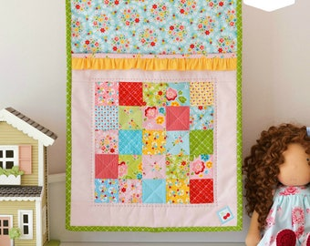 Ruffle Doll Quilt Paper Pattern