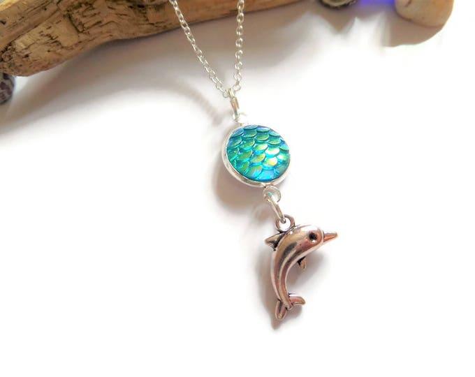 Dolphin necklace, sea necklace, mermaid necklace, sea jewelery, ocean gift, dolphin gift, mermaid jewellery, jewelery gift, mermaid favors