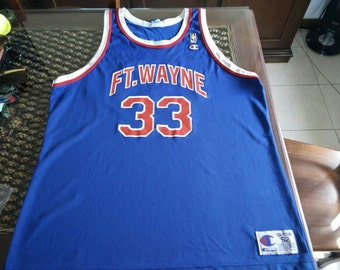 90s Grant Hill #33 Ft Wayne Pistons celebration jersey by Champion MADE IN USA!