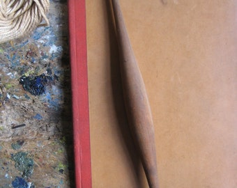 A vintage French drop spindle, wooden spindle, spinning supply, home decor