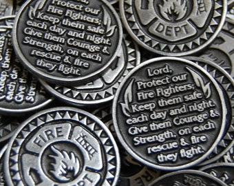 Firefighter Pocket Tokens - SET OF 10