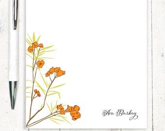 personalized notePAD - AWESOME AZALEA - stationery - stationary - flowers - floral - botanical