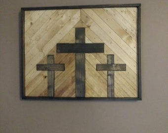 Three Cross Wall Art