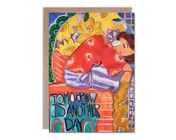 Tomorrow Is Another Day, 5 x 7 encouragement card