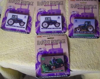 Lot of 4 1995 Ertl Harvest Heritage Trading Cards