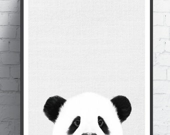 Nursery Wall Art, Panda Wall Print, Baby Shower,  Panda Bear, Nursery Panda, Animal Print, Nursery Wall Art, Nursery Print, Nursery Decor