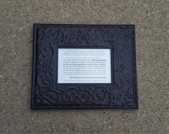 You Write a Dissertation Plaque in Black/Brown Scrolly Frame
