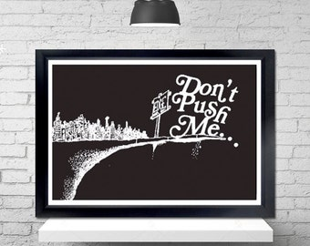 Close To The Edge Poster - grandmaster flash, the message, shel silverstein, where the sidewalk ends, wall art, music poster