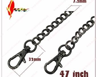 5pcs  120cm   47inch    gun-metal   purse   chain, chain for bag handle  KS-116