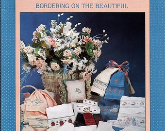 Alma Lynne Designs  Bordering On The Beautiful / Counted Cross Stitch Pattern Book No ALX-75