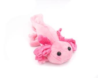 Axolotl rose peluche Animal peluche, peluche Axolotl - réalisé sur commande