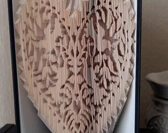 Bird Heart Book Folding Pattern