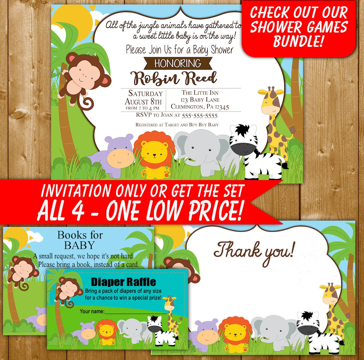 Awesome Jungle First Birthday Invitations Pattern - Resume Ideas ...