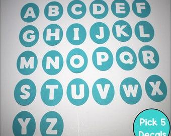 Alphabet Vinyl Floor Decals for the Classroom (5 decals per set)