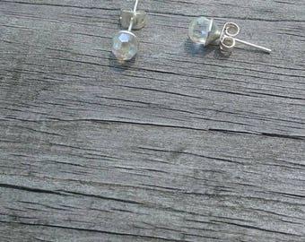 Swarovski Disco Ball Stud Earrings 6mm