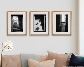 Urban Details 3V1 Print Collection.  Detail photography, urban, shadows, decor, wall art, artwork, large format photo.