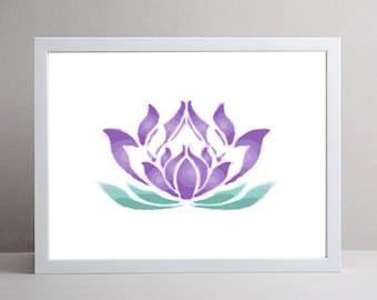 Lotus Art, Flower Art, Meditation Art, DIGITAL ART, Digital print, Mindful Art, Zen Art, Peaceful Art, Energy Art, Energy Print, Yoga Art