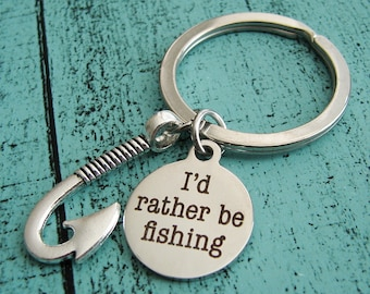 Dad gift keychain, Valentine's Day gift for him, love fishing gift for Dad, husband boyfriend, engagement anniversary birthday gift for men