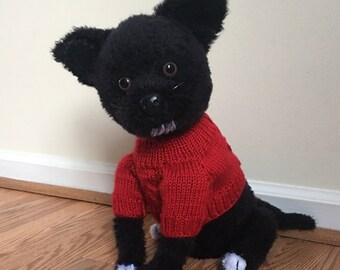 Crochet Chihuahua dog in sweater